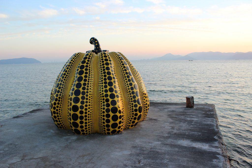 Naoshima Island Pumpkin in Japan - Japan bucket list