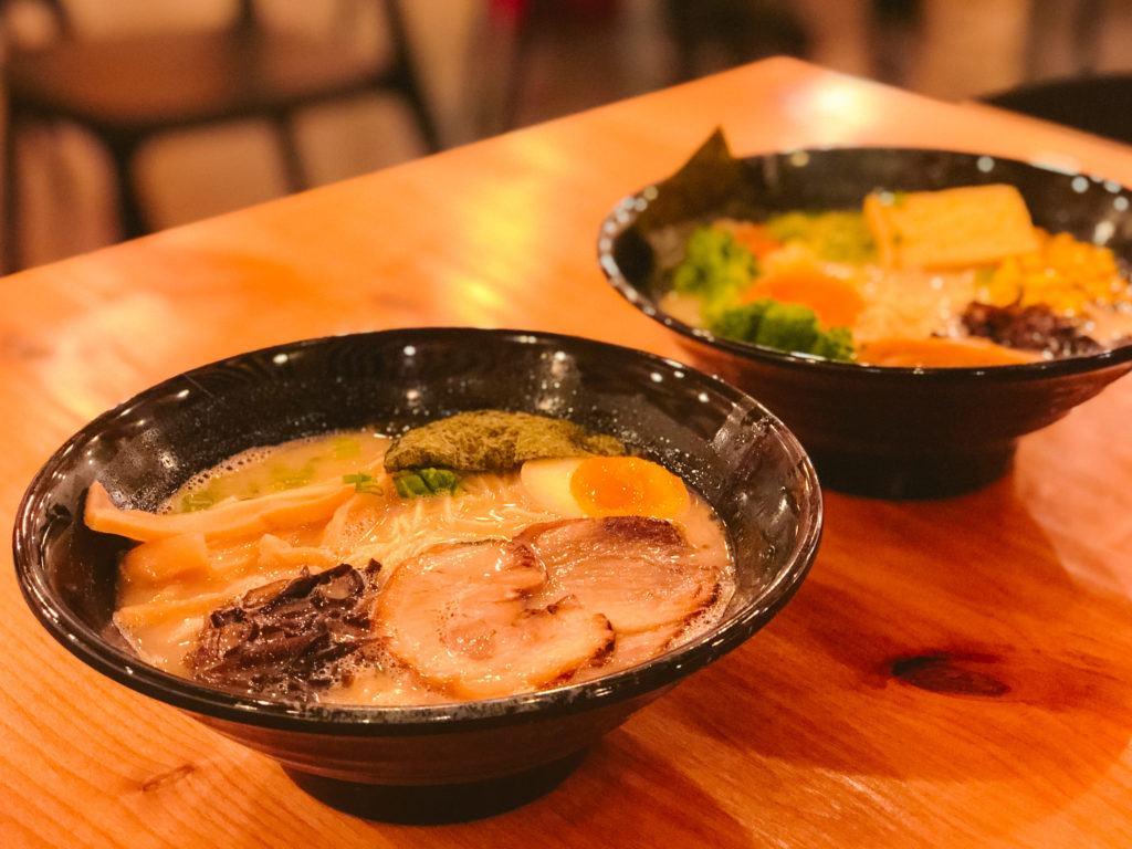 Tonkatsu and vegetarian ramen from Ramen Nara - best restaurants in Northwest Arkansas