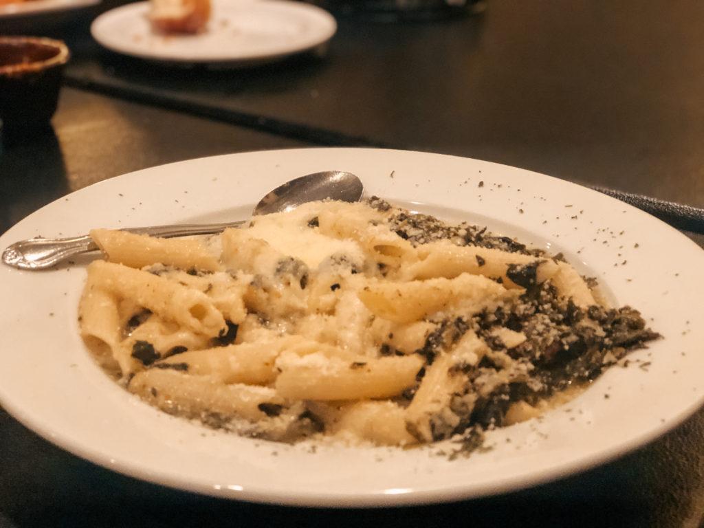 Chicken Florentino pasta from Fratelli's Italian Grill in Springdale, Arkansas