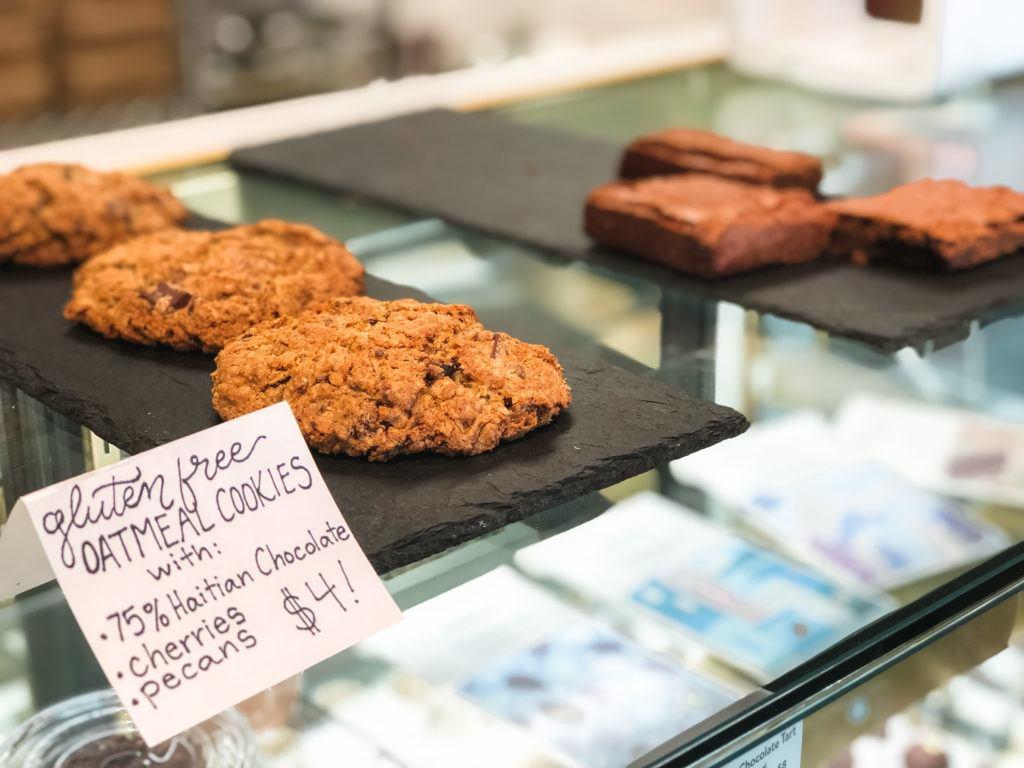 Fresh baked cookies and brownies from Markham & Fitz in Bentonville - best desserts in Northwest Arkansas