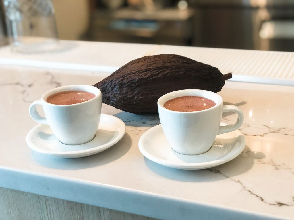 Sipping chocolate from Markham & Fitz in Bentonville