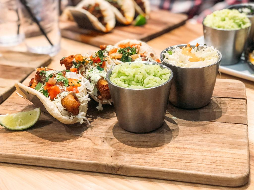 Beer-Battered fish tacos from Local Lime - best restaurants in Northwest Arkansas