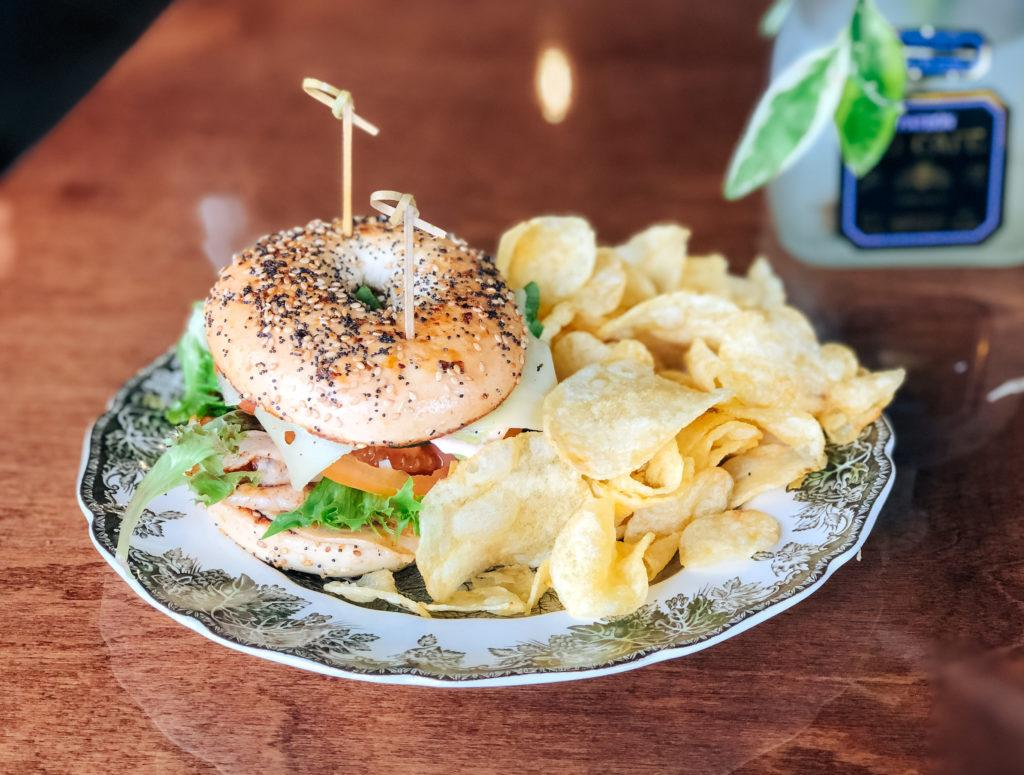 Everything bagel sandwich from Southern Food Co in Fayetteville, Arkansas