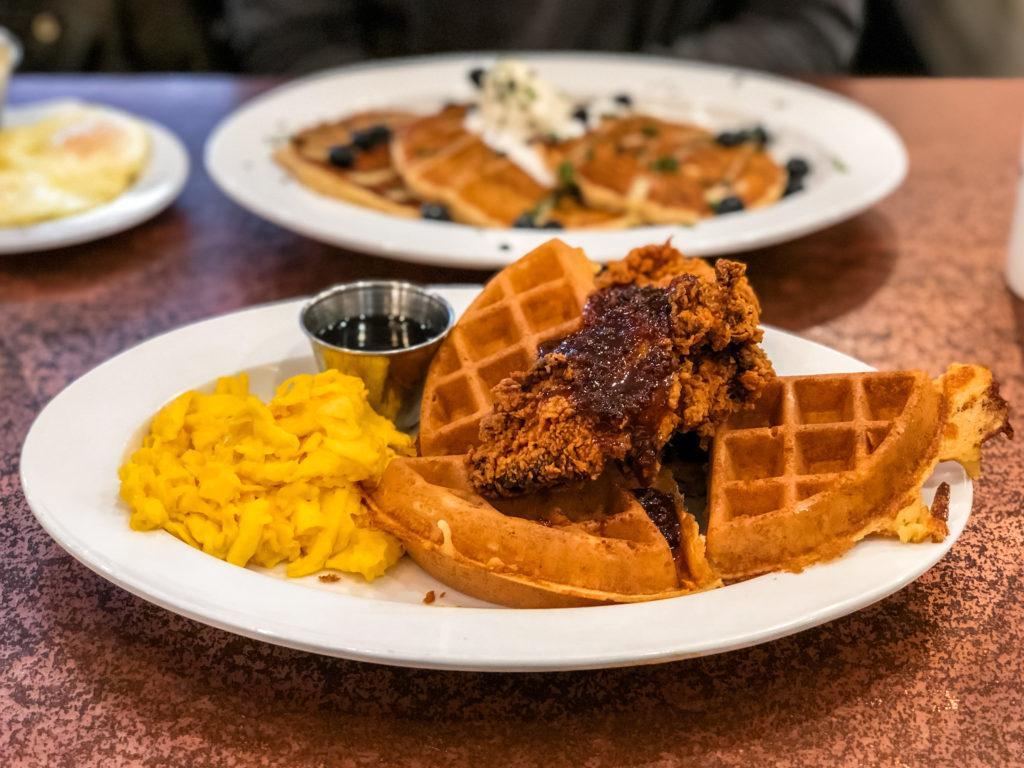 Chicken & Waffles from The Buttered Biscuit - best restaurants in Northwest Arkansas