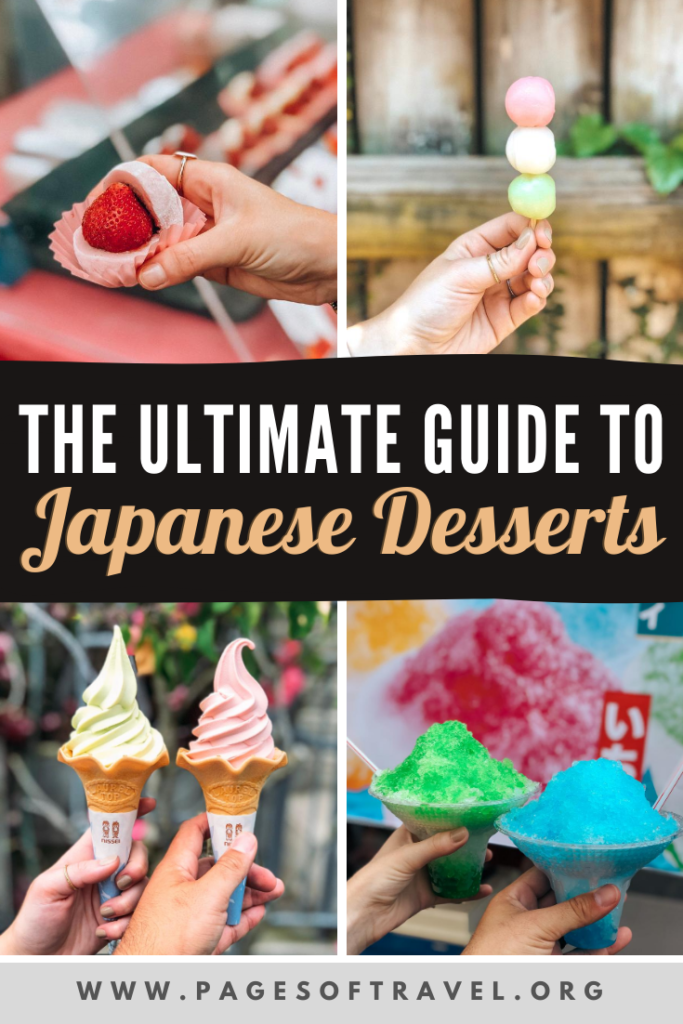 If you have a sweet tooth you're going to LOVE these popular Japanese sweets and desserts. This guide includes many traditional Japanese sweets such as taiyaki, dango, mochi, and other types of wagashi. But it also includes Japanese desserts with Western influence such as donuts, shave ice (kakigori), crepes and more!